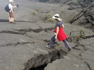 On the floor of Kīlauea Iki