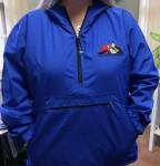 Modeling Pack-n-go rain jacket