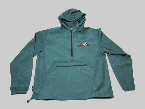 adult pack and go rain jacket forest green