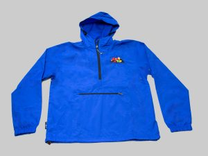 Adult Pack-n-go jacket royal blue