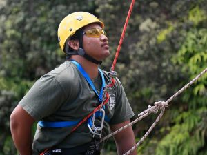Youth Ranger Rappelling