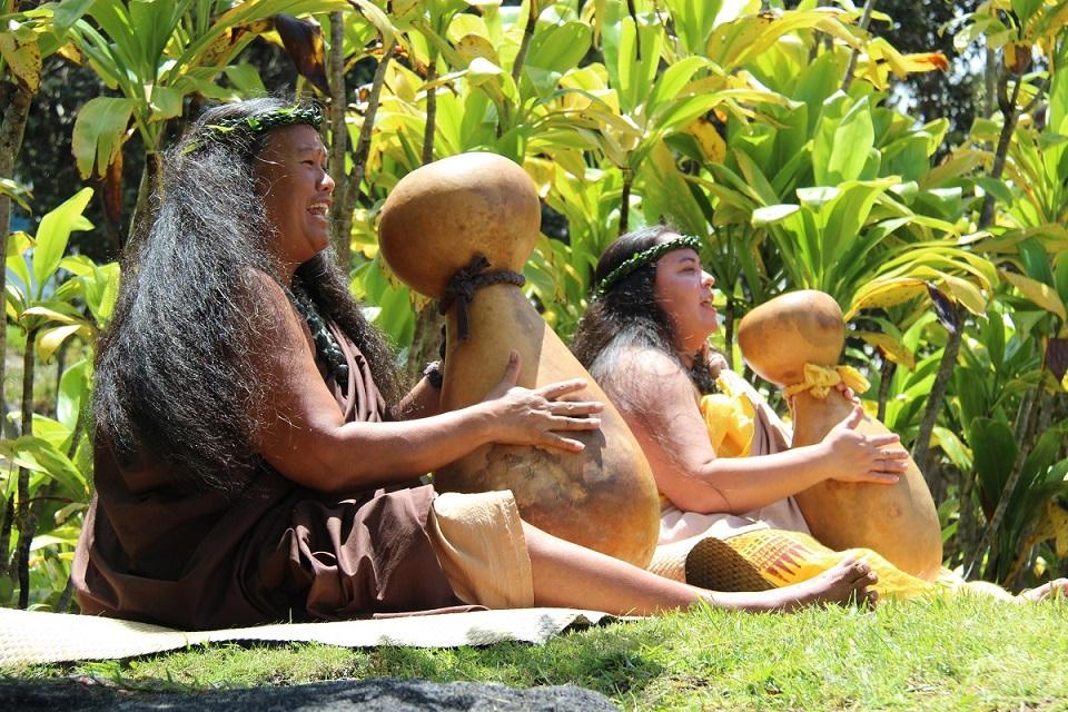 Hālau Performers with Hula Ulumamo o Hilo Palikū