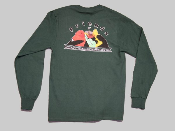 LS t-shirt forst green back