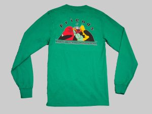 LS t-shirt kelly green back