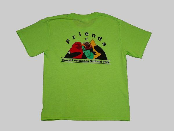 Youth lime green back
