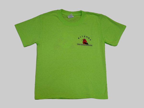 Youth lime green front