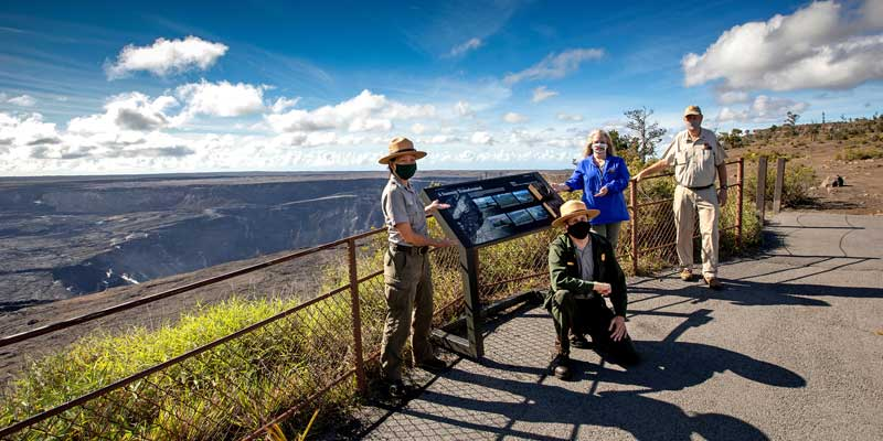 Wayfinding sign funded by Friends of Hawaiʻi Volcanoes National Park
